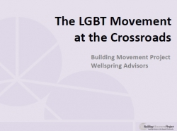 Webinar Recap: At the Crossroads: The Future of the LGBT Movement