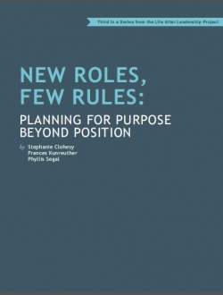 Planning for New Roles but Few Rules