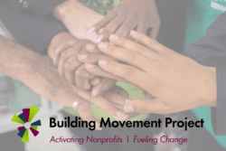 A Message from Building Movement Project: Sustaining Non-Profits in a Time of Crisis