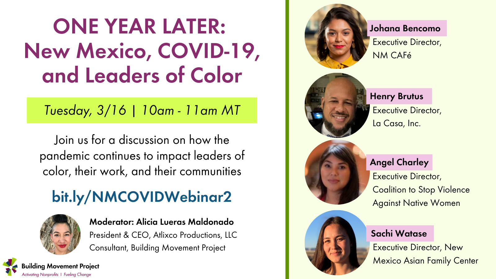ONE YEAR LATER: New Mexico, COVID-19, and Leaders of Color